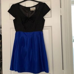 Royal Blue and Black Annabella Dress | Size M